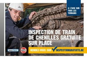 inspection de train de chenilles